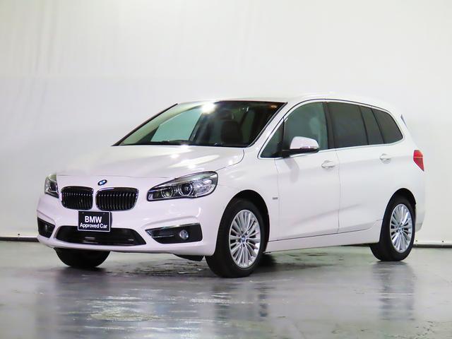 BMW 218dグランツアラー ラグジュアリー 7人乗 革シート F電動シート&ヒーター 1オーナー 禁煙 純正ドラレコ HDDナビ リアカメラ 前後センサー ACC ドライビングアシスト 駐車アシスト コンフォートPKG 認定中古車