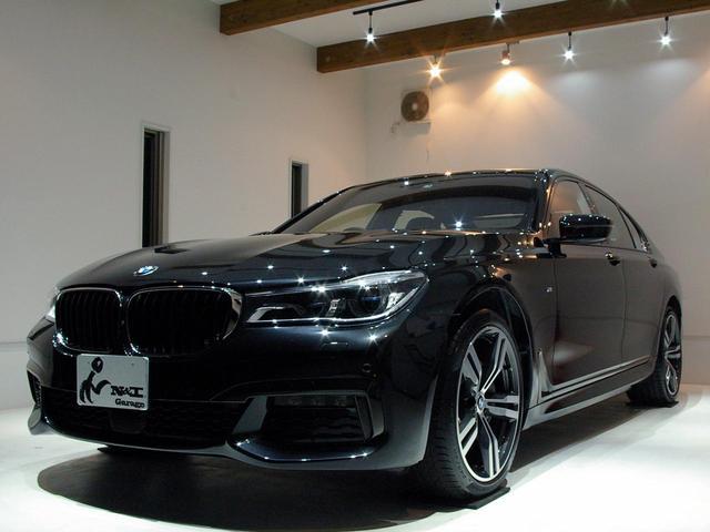 BMW 740d xDrive Mスポーツ 1オーナー 黒革 ACC HUD サンルーフ ジェスチャーコントロール レーザーライト ソフトクローズドア ディスプレイキー Mスポーツ20AW ハーマンカードンスピーカー ディ-ラー車検済ナビ最新