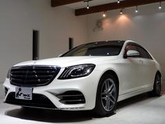 Sクラス左ハンドル新車保証 ダイヤモンドホワイト禁煙車AMGライン