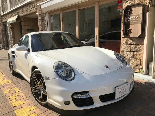 ポルシェ 911ターボ D車 Sクロノ オール本革テラコッタ内装 SR
