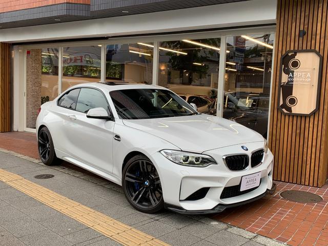 BMW M2 1オーナー ガラスSR 黒ダコタレザー リアウイング脱着可能