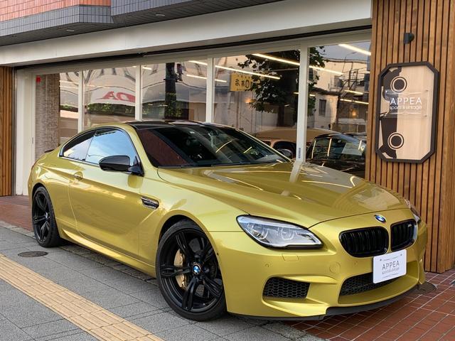 BMW M6 セレブレーションエディション コンペティション 1オーナー 国内限定13台 左H 600psターボ BMW(Individualオースチン・イエロー) 専用ブラッククロームキドニーフレーム&サイドギル(M6 COMPETITIONロゴ付)&ドアノブ