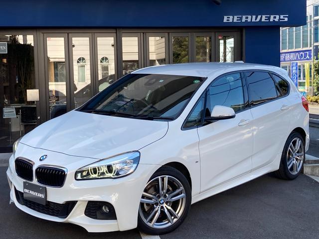 BMW 2シリーズ 218dアクティブツアラー Mスポーツ 18インチアルミホイール 純ナビBカメラ パーキングサポートPKG ワンオーナー車 衝突軽減ブレーキインテリセーフ リアシートスライド クリーンディーゼル