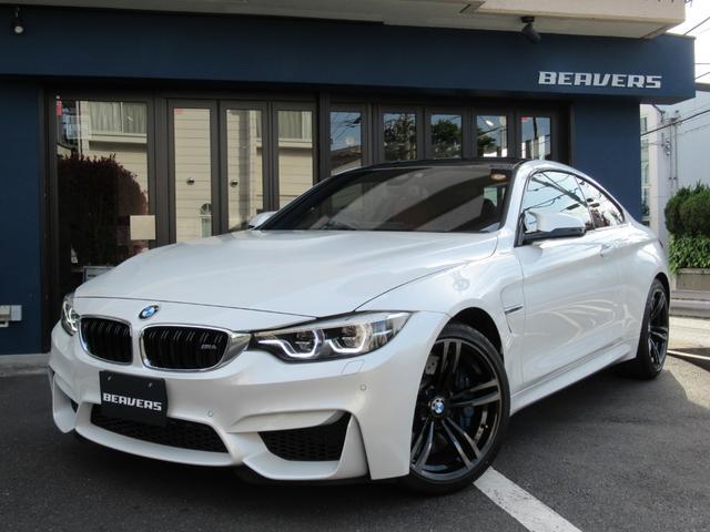 BMW M4 M4クーペ ワンオーナー 赤革 ハーマンカードン HDDナビ 地デジ バックカメラ カーボンルーフ ドライビングアシスト LCI