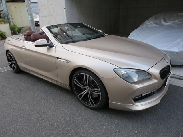 BMW 650iカブリオレ シャンパンゴールド 黒幌