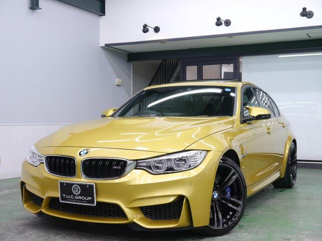 BMW M3 アダプティブMサス 黒革 SR ナビTV 2年保証