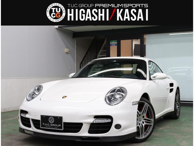 ポルシェ 911 911ターボ スポクロP 黒革 HDDナビ フルセグ Bカメ 専用19AW HID スポーツモード 2年保証