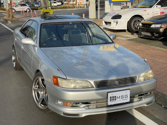 トヨタ マークII ツアラーV 5MT サンルーフ 車高調 マフラー 電動コーナーポール