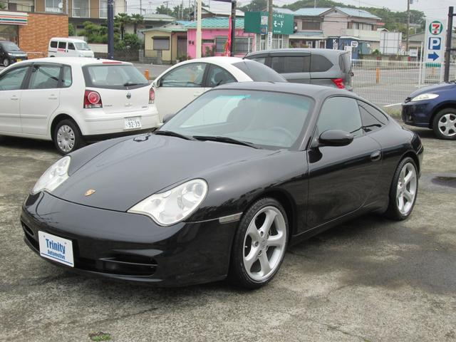 ポルシェ 911 911カレラ ティプトロニック レザーシート HDDナビ ETC テックアート18インチ ホイール付スタッドレスタイヤキーレス2個