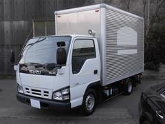 エルフトラック1.5t積 低床アルミバン 3.1LPG車 フロアAT