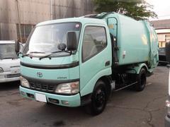 ダイナトラック2t積 極東製巻込パッカー車排出板付4.2立米 4.9L−D
