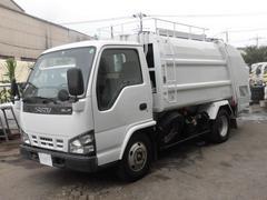 エルフトラック2.5t積 新明和製プレスパッカー車5.3立米 4.8D