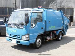 エルフトラック2t積 極東製プレスパッカー車4.2立米 4.6LPG車
