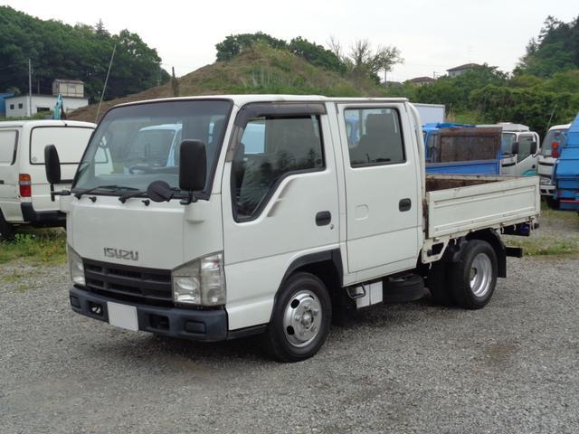 いすゞ エルフトラック Wキャブ 2t積 Wキャブ全低床平ボディ 3.0Lディーゼルターボ フロアAT 6人乗り 荷台内寸長208幅162cm