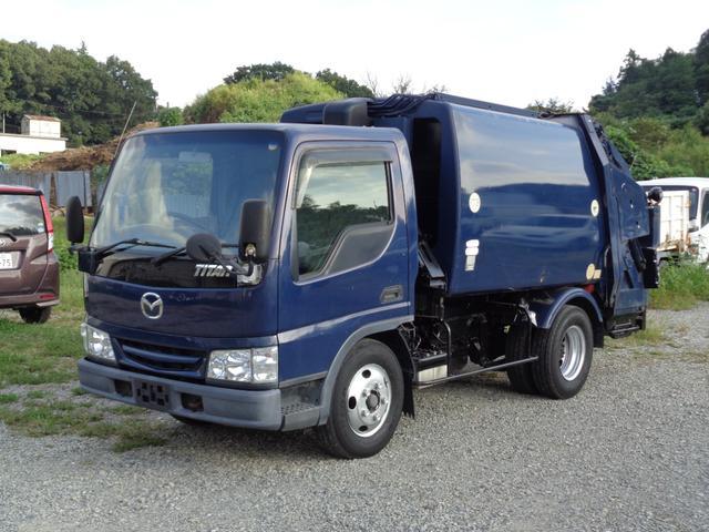 マツダ タイタントラック  2t積 極東製プレスパッカー車4.2立米 4.0Lディーゼル フロア5速MT 連続スイッチ付 型式KK NOxPM適合