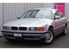 BMW740i中期4.4 サンルーフ 黒革 記録簿 純正16AW
