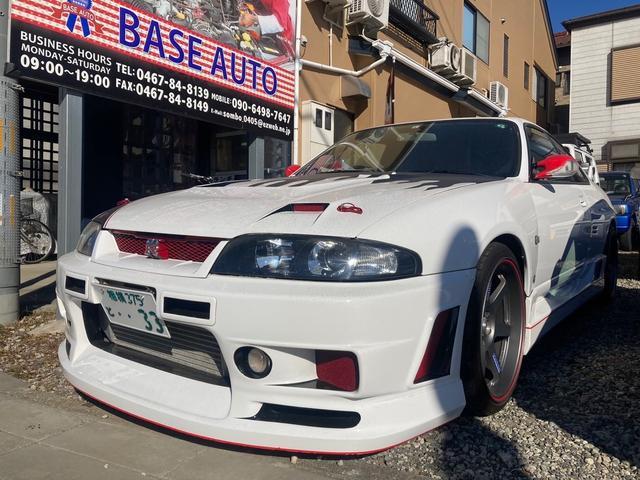 日産 スカイライン GT-R 4WD ナビ エアロ ETC アルミホイール オーディオ付 DVD 5MT HID 純正ステアリング ニスモメーター エアロパーツ 社外マフラー HKSタービン ブーストコントローラー ダンパー