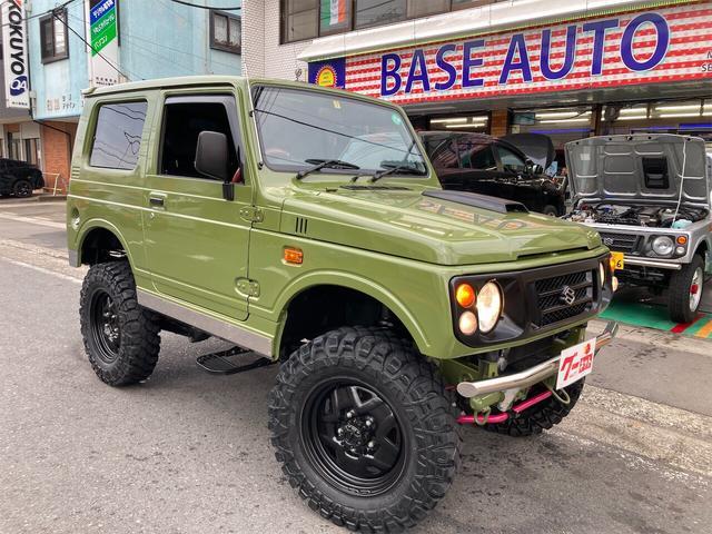 スズキ ワイルドウインド 4WD 5MT リフトアップ マッドタイヤ 社外バンパーマフラー LEDテールランプ オールペイント