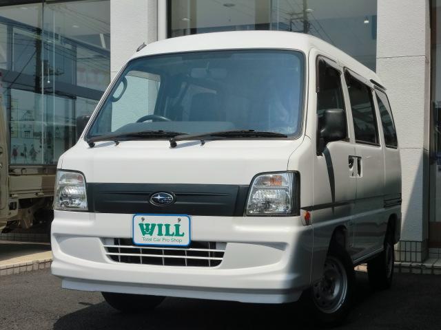 スバル サンバーバン トランスポーター/ワンオーナー/1年保証/社...