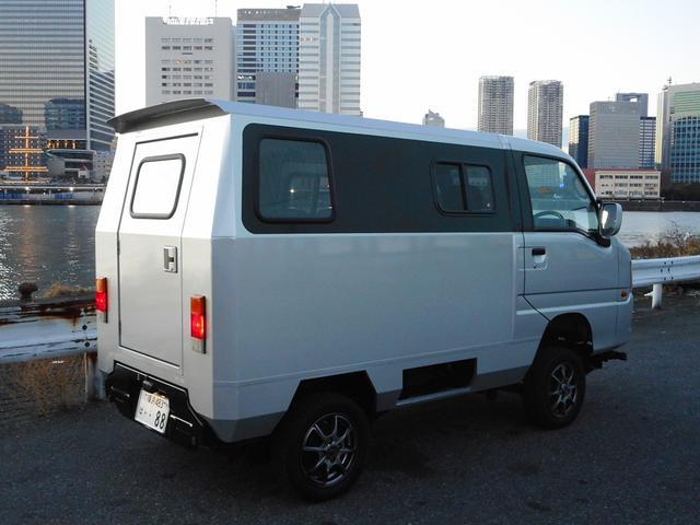 スバル サンバーバン  4WD オリジナル特装車 車高アップ ボディーリフト 構造変更済み バン登録 社外AW 車検整備付