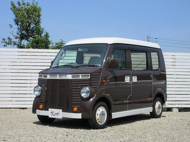 スズキ エブリイ PA フレンチバス仕様 革調シートカバー ナビETC ブラウンツートン