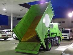 エルフトラック深ダンプ 2トン 極東垂直パワーゲート CNG車