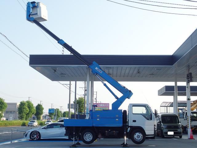 いすゞ 高所作業車9.7m アイチSS10A 電工仕様FRPバケット
