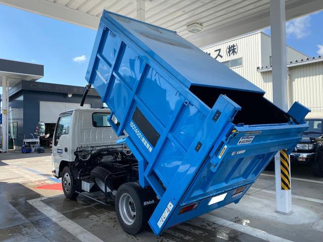 いすゞ エルフトラック 深ダンプ 土砂禁 垂直パワーゲート 積載2t 6MT