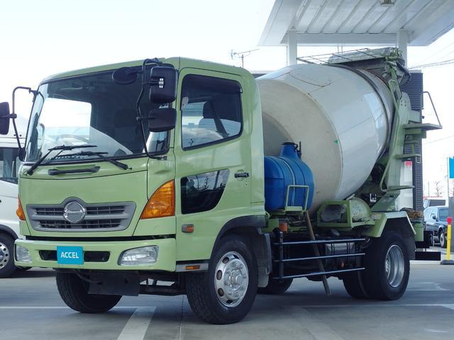 日野 レンジャー ミキサー車 増トン 6.3立米 積載8080Kg電動ホッパー