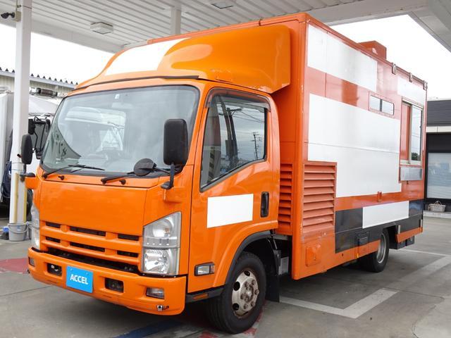 いすゞ エルフトラック  4WD 移動販売車 キッチンカー 加工車登録 シンク 作業台 積載500Kg  8ナンバー バックカメラ スムーサーEx 2ペダル NOx・PM適合