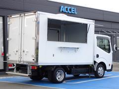 アトラストラック 移動販売車 キッチンカー ベース車 1ナンバー 積載1.45t 5MT ディーゼル 左サイドスライドドア 右跳ね上げ扉 リア観音ドア 換気扇 2層シンク・給排水・水ポンプ 荷室前側水抜き穴1対