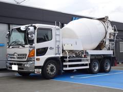 レンジャー 新明和ミキサー車 増トン ドラム容量8.9立米 最大混合容量4.5立米 積載9,870Kg ナンバー付き 車検令和4年6月まで 新明和MW455−373S 3軸2デフ 電動ホッパー 280馬力 6MT