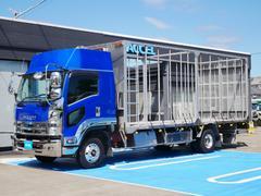 フォワード 家畜運搬車 積載2,700Kg 荷台長さ632cm・幅216cm 荷台床面地上高106cm リターダー ホイールパーク アルミホイール ベッド付き 車両総重量8t未満 NOx・PM適合