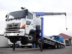 プロフィア 積載12,200Kg 重機運搬車 タダノ4段クレーン ラジコン ウインチ ハイジャッキ セルフクレーン セルフローダー 積載車 荷台長さ890・幅237 380馬力 7MT・3ペダル 荷台載せ替え車両