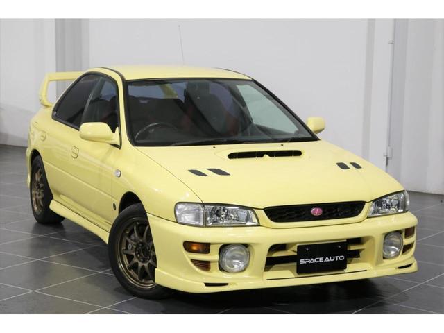 スバル インプレッサ WRX STiバージョンVI 5速MT 柿本マフラー ボルク17AW カシミヤイエロー