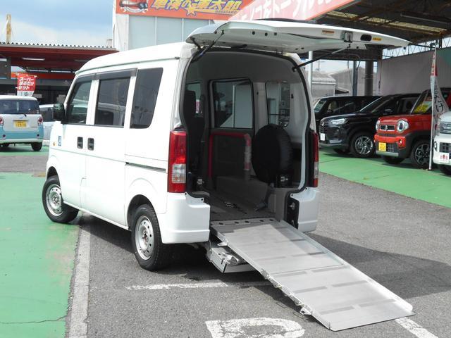 スズキ エブリイワゴン 車椅子移動車後部電固定
