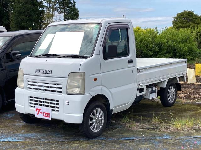 スズキ  4WD オートマ パワステ ドアバイザー アルミ 軽トラック ホワイト