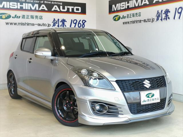 スズキ スイフトスポーツ 1.6スポーツ 6速MT OPエアロ HKS車高調 軽量アルミ 3連メーター