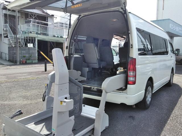 トヨタ ハイエースコミューター ウェルキャブ 車椅子4台固定・スライドドア連動ステップ・社外ナビ・TV・ETC