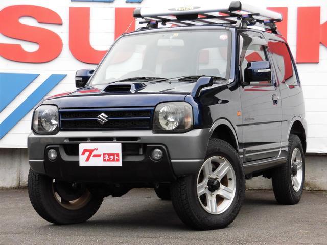 スズキ ランドベンチャー 4WDターボ オートマ リフトアップ スズキスポーツサス 社外マフラー ETC 社外オーディオ