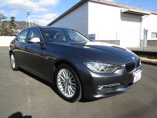 BMW 320iラグジュアリー 純ナビBカメラベージュ革PシートブレーキSクルーズCスマートキーPスタートPセンサーETCシートH