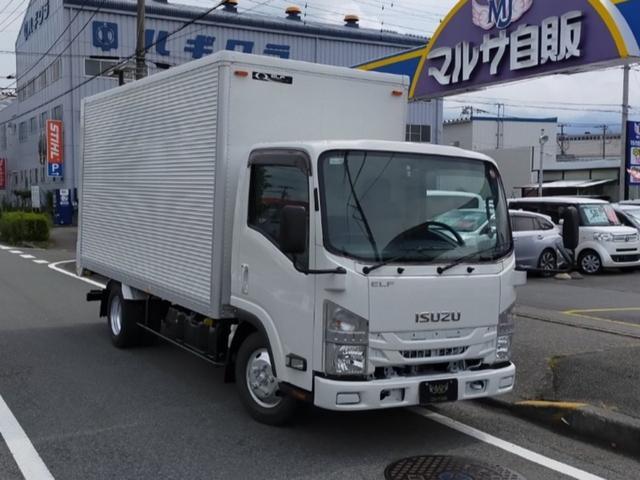 いすゞ エルフトラック ロング 2.95t積 アルミバン 3000ccディーゼルターボ 左スライドドア バックカメラ ETC キーレス 電動格納ミラー 内寸長 435cm 幅 177cm 高さ 204cm