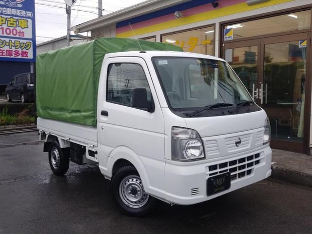 日産 DX 幌付き軽トラック エアコン パワーステアリング スタッドレス付き レベライザー オートマ ホワイト 最大積載量350kg