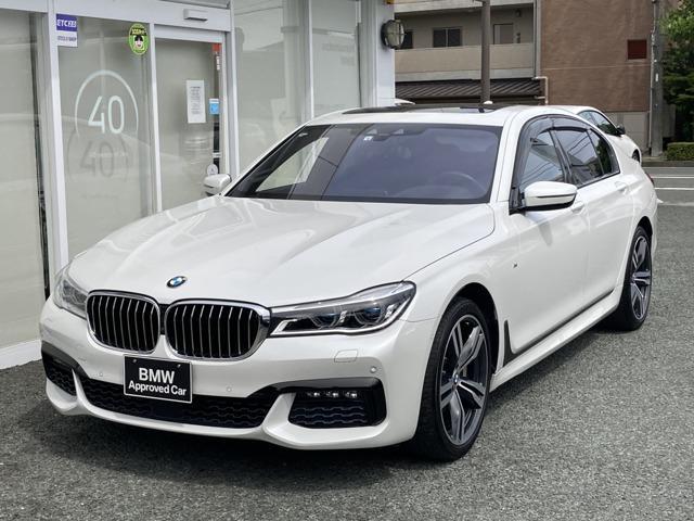 BMW 750i Mスポーツ 左ハンドル サンルーフ ブラックレザー 純正HDDナビTV ガラスサンルーフ LEDヘッドライト シートヒーター 全周囲カメラ