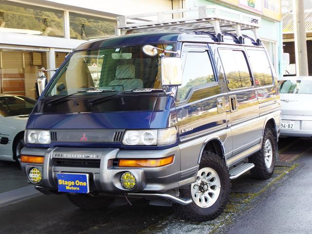 三菱 GLX ハイルーフ マッドタイヤ ルーフラック