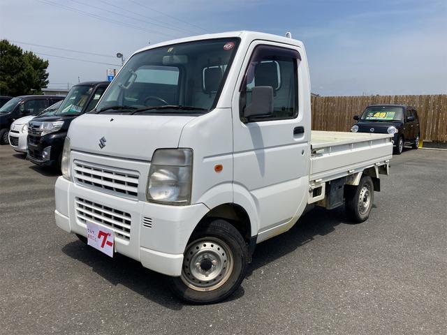 スズキ キャリイトラック KCエアコン・パワステ AC MT 軽トラック ホワイト