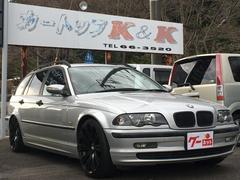 BMW318iツーリング HDDナビ 黒革 純正アルミ ローダウン