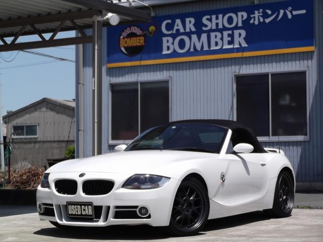 BMW Z4 ロードスター2.5i 後期モデル MARVINフルエアロ BBS19インチAW・MARVINエアロキッyト・メーガンレーシング車高調・アーキュレーマフラー・電動オープン・キーレス・イクリプスHDDナビ&地デジTV・赤革シート・シートヒーター・HID・ETC