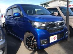 N−WGNカスタムG・ターボパッケージ ナビ 軽自動車 ETC ブルー CVT