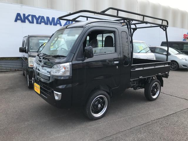 ダイハツ ハイゼットトラック ジャンボSAIIIt パートタイム4WD LEDヘッドライイト 左右エアバック パワーステ パワーウインド キーレス UV リヤウインドスモークガラス ABSハードカーゴ